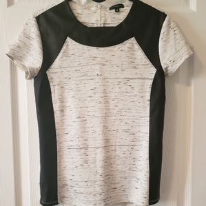 DYNAMITE | Ladies Small Tshirt w/ Faux Leather